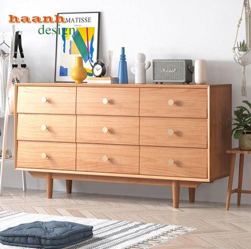 Tủ ngăn kéo gỗ sồi
