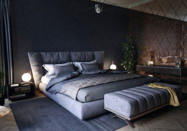 Thiết kế  nội thất phòng ngủ màu đen