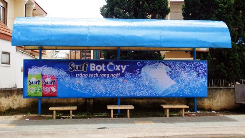 Thiết kế thi công quảng cáo nhà chờ xe bus