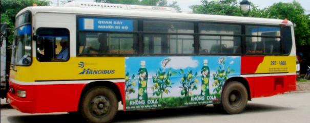 Thiết kế thi công quảng cáo Xe Bus