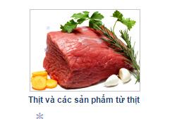 Thịt Và Các Sản Phẩm Từ Thịt