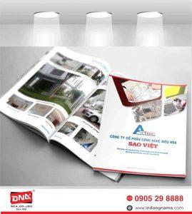In catalogue, brochure