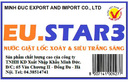 Nước giặt nhiệt EU.STAR3