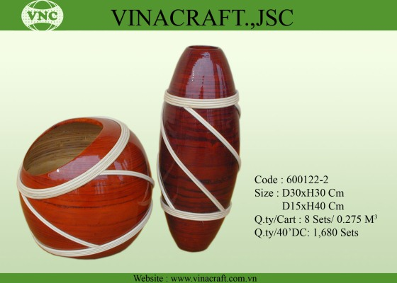 Bamboo Lacquer Vase