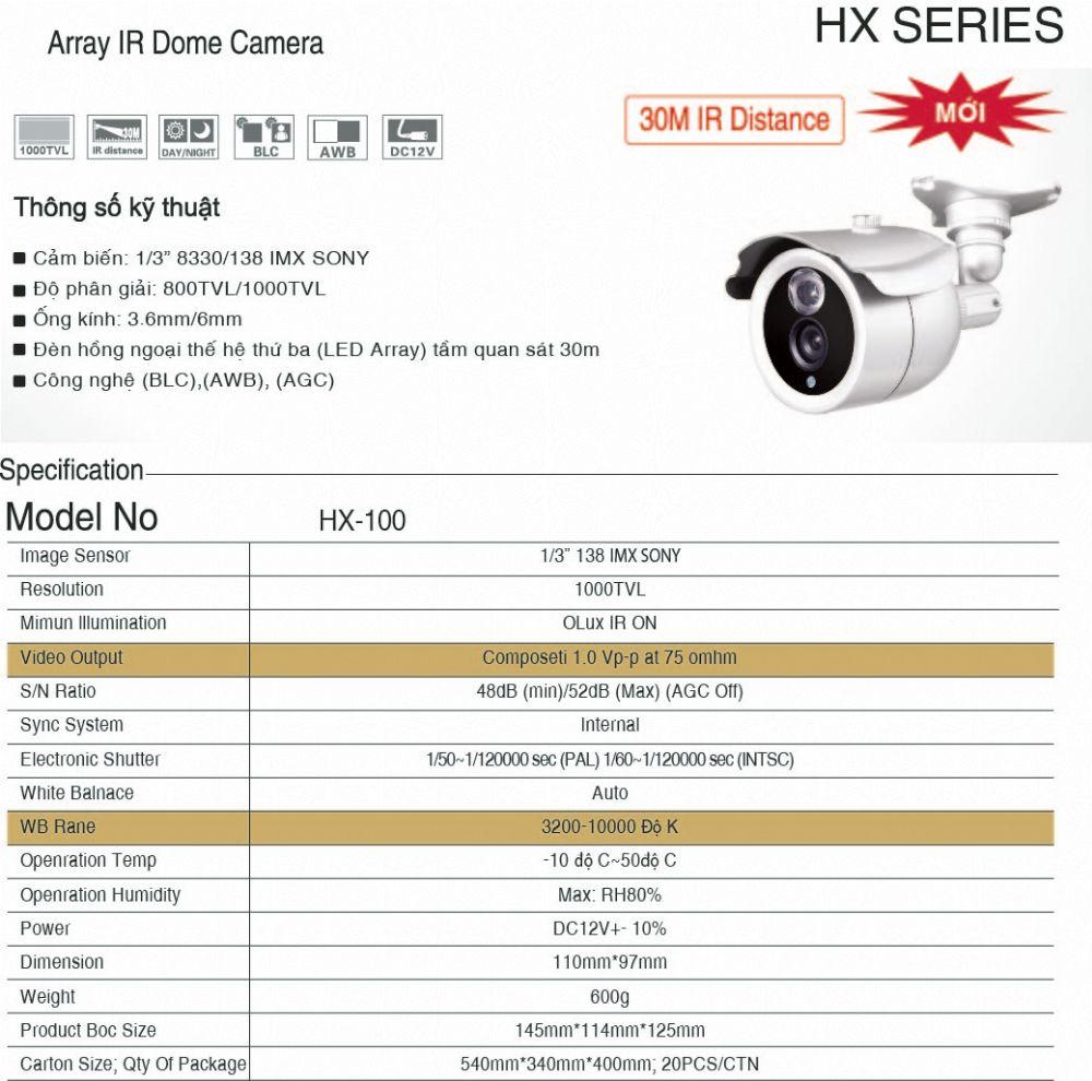 Camera HX - 100
