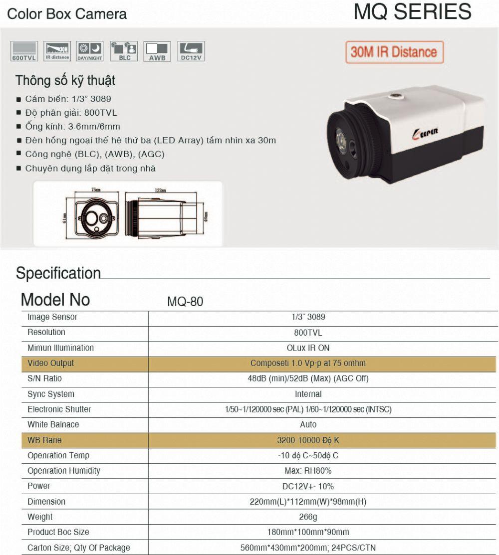 Camera MQ - 80