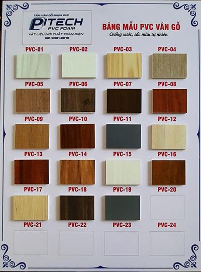 Tấm ván gỗ nhựa PVC vân gỗ