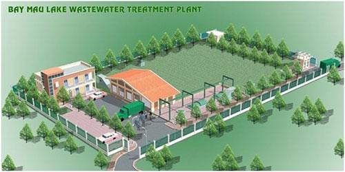 Hệ thống xử lý nước thải hồ Bảy Mẫu