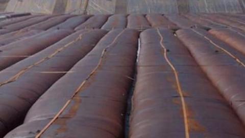 GEOTUBE – ép tách nước xử lý bùn thải