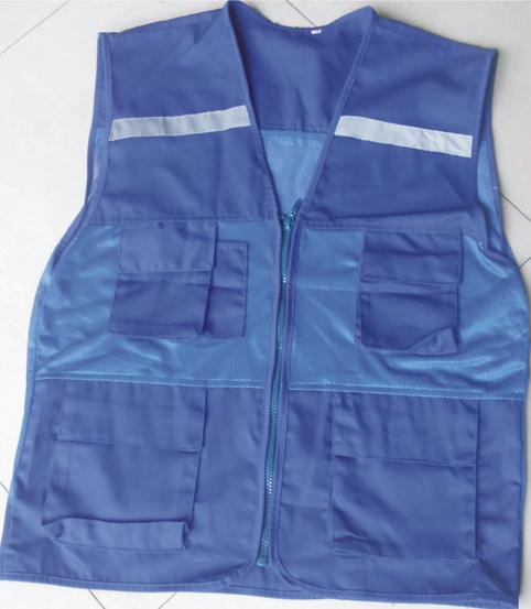 áo gile màu xanh