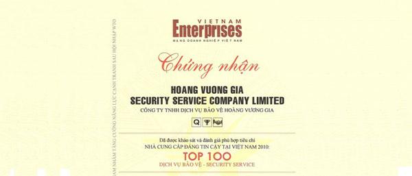 TOP 100 nhà cung cấp đáng tin cậy