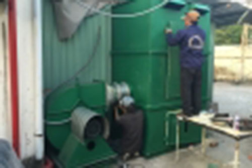 Hệ thống hút bụi và xử lý bụi dệt