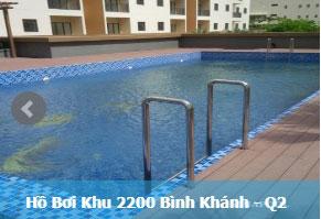 Hồ bơi khu 2200 Bình Khánh Q2