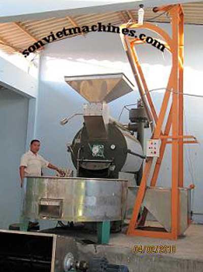 Máy rang cà phê 120kg 1 mẻ