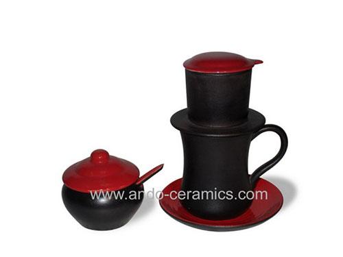 Phin pha cafe gốm