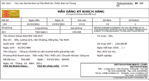 Mẫu registration card