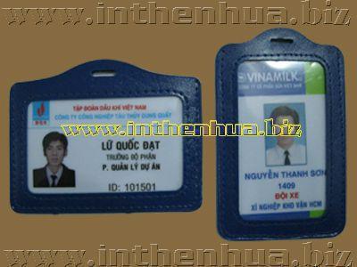 Bao đeo thẻ da nhân viên