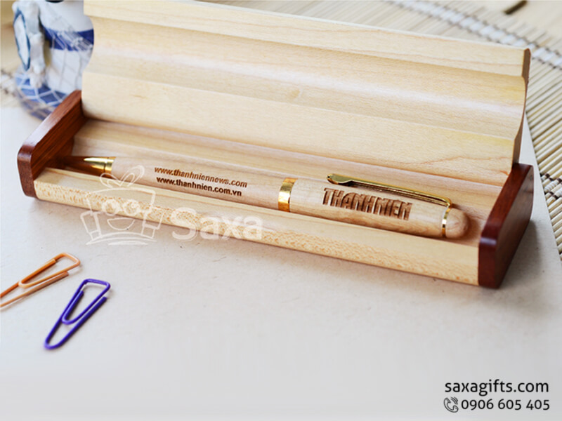 Bút ký gỗ in logo