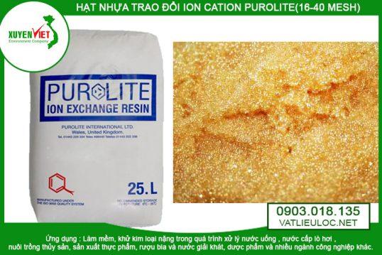 Hạt nhựa Cation Purolite