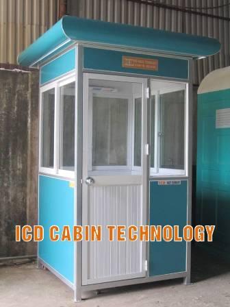 Cabin bảo vệ khung thép công trình