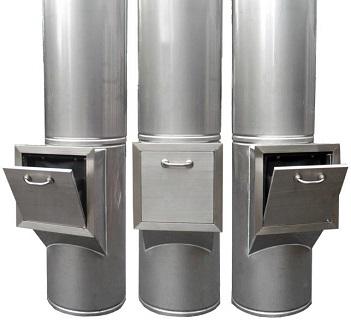 Hệ thống ống thoát rác