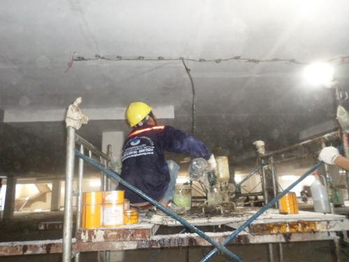 Xử lý vết nứt ở Khách Sạn CENTRAL PART Biên Hòa - Đồng Nai