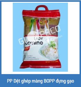 PP dệt ghép màng BOPP đựng gạo