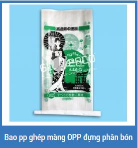Bao pp ghép màng OPP đựng phân bón
