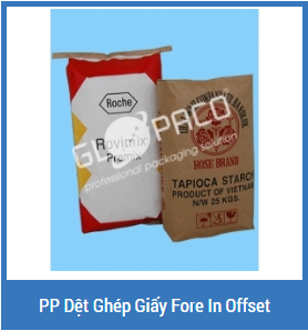 PP dệt ghép giấy Fore in Offset