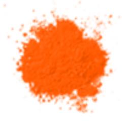 Bột màu cam dạ quang