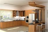 Tủ bếp gỗ verneer cao cấp