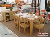 Bộ bàn ăn gỗ sồi Mỹ nhập khẩu