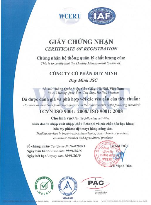 Chứng nhận ISO-9001:2008