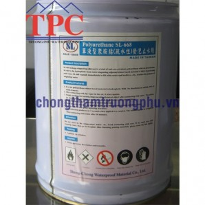 Dung dịch chống thấm PU tạo bọt phân tán nước SL-668