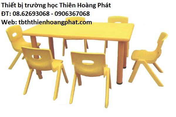 Bộ bàn ghế nhựa mầm non