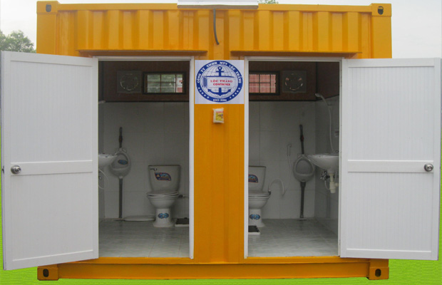 Container 10Feet toilet 2 ngăn