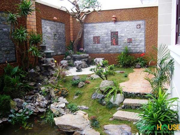 Thiết kế, thi công sân vườn biệt thự