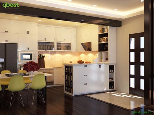 Nội thất bếp phòng ăn
