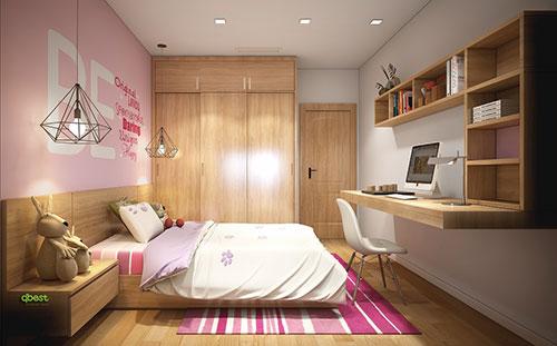 Nội thất phòng ngủ con gái