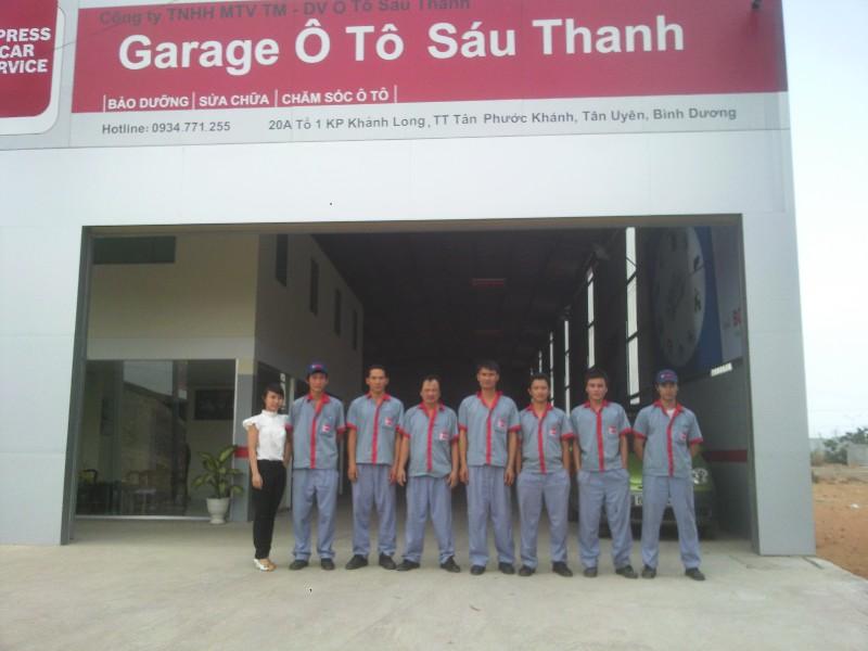 Đội ngũ nhân viên Gara Sáu Thanh