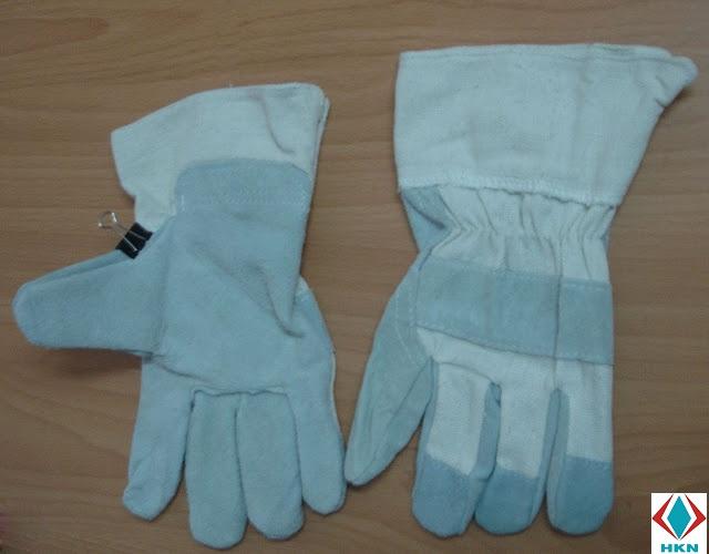 Găng tay da vải bạt