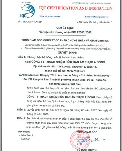 Quyết định ISO 22000:2005
