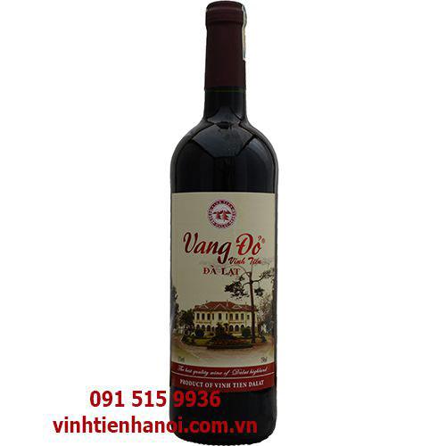 Rượu vang Đà Lạt đỏ 11% - 750ml