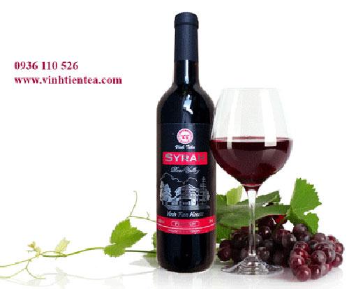 Rượu vang đỏ nho Syria