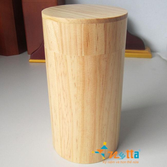hộp gỗ tròn