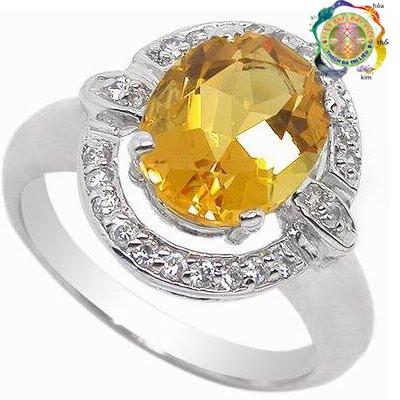 Nhẫn bạc đá quý