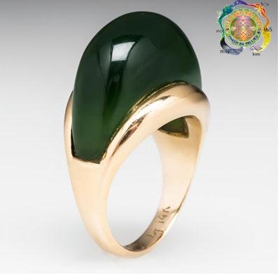 Nhẫn vàng mặt đá