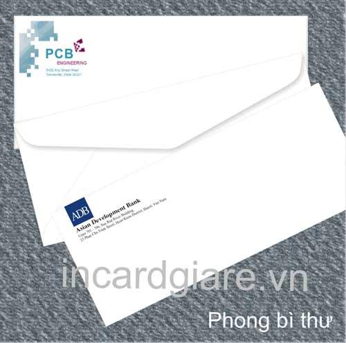 In phong bì thư
