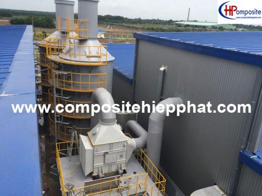 Tháp xử lý khí bằng nhựa composite