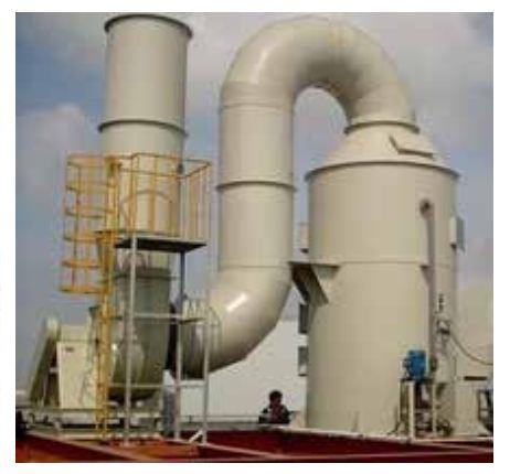 Hệ thống xử lý khí thải dây chuyền